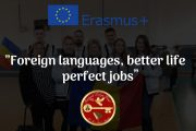 "Un nou proiect Erasmus+ ""Foreign languages, better life, perfect jobs"""