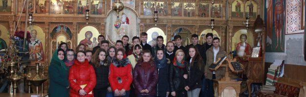 Elevii seminariști au vizitat Biserica din Broscăuți